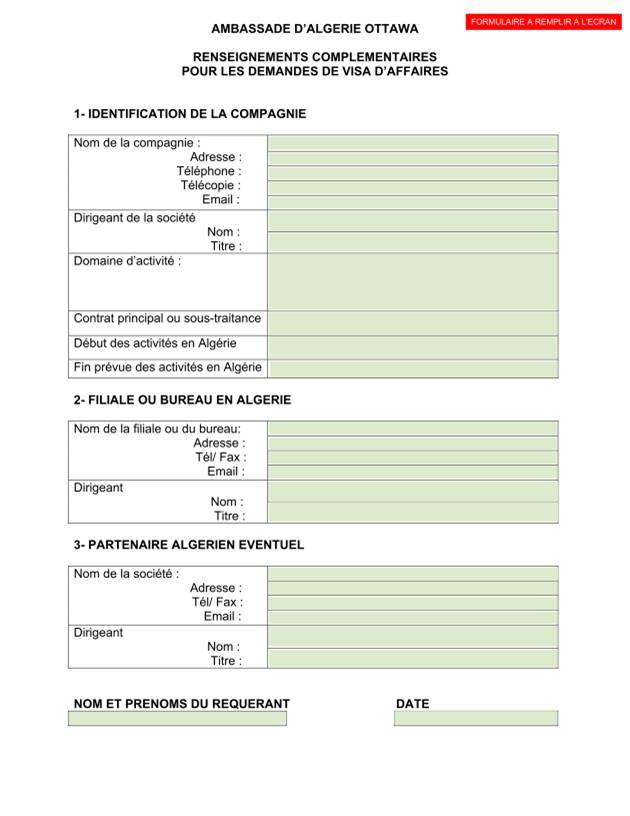 formulaire s12 algerie